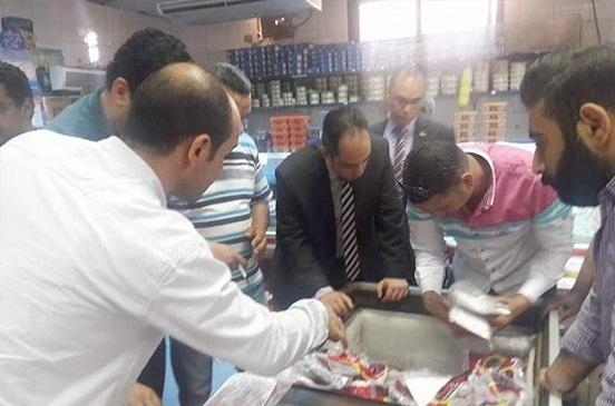ضبط 83 مخالفة تموينية فى حملة على أسواق ومحلات مراكز الغربية