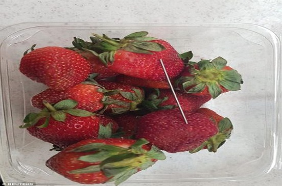 كابوس الفراولة.. مخاوف عالمية من انتشار الفاكهة الملغمة بالإبر.. صور