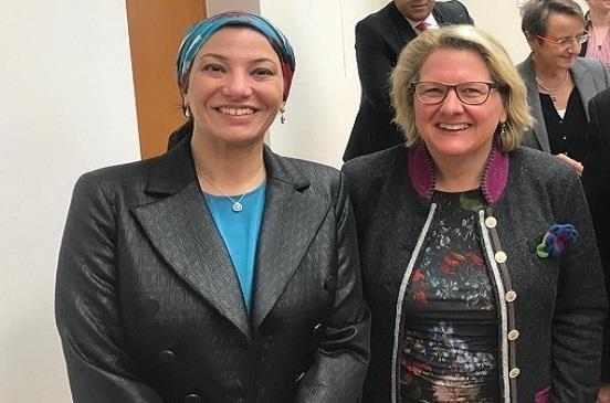 وزيرة البيئة الألمانية تشيد بنظيرتها المصرية وتعلن دعم بلادها لمصر فى رئاستها لمؤتمر التنوع البيولوجى