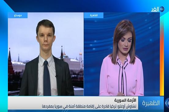 بالفيديو..  «أندريه أنتيكوف»: لا يُوجد هناك مُوافقة روسية على إقامة تركيا منطقة آمنة في سوريا