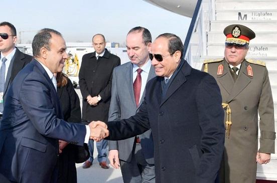 الرئيس السيسي يصل ميونيخ للمشاركة في مؤتمر السياسات الأمنية | صور