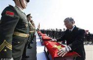 عودة بقايا الجنود الصينيين الذين قتلوا في الحرب الكورية عام 1950