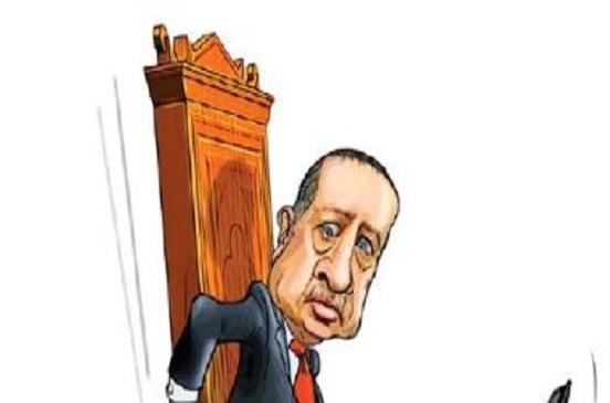 كاريكاتير إسرائيلى ساخرا من أردوغان: خسارة إسطنبول تكشف تحطم عرشه
